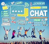 Chat Chatting Communication Social Media Internet Concept poster