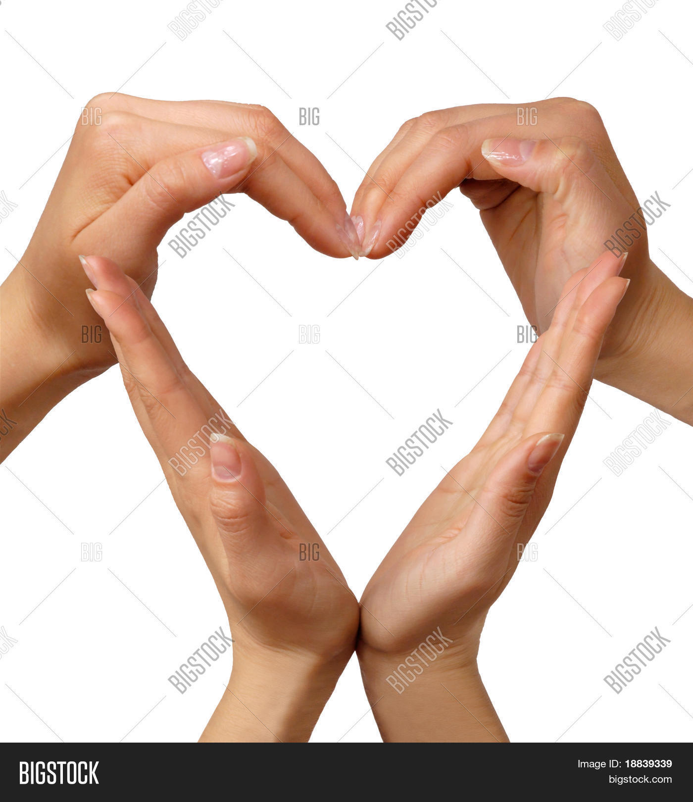 Heart Made Hands Image Photo Free Trial Bigstock