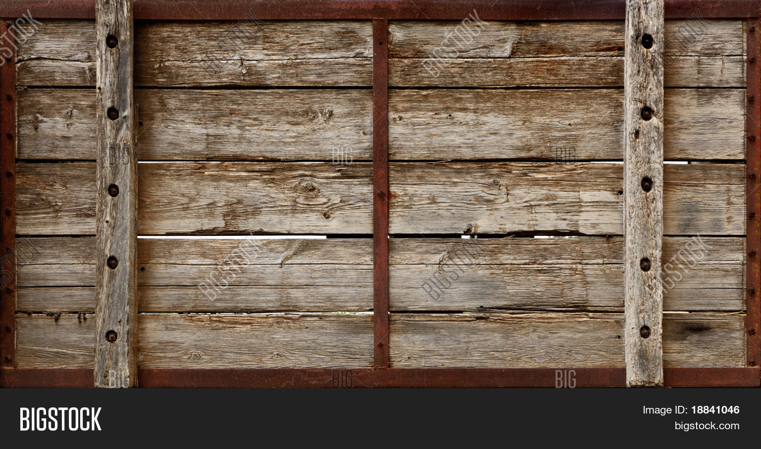 Large Wooden Crate Boards Grungy Texture Background
