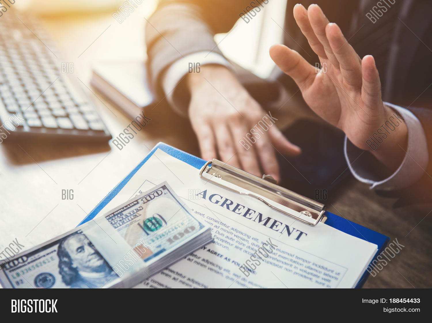 Businessman Refusing Image Photo Free Trial Bigstock