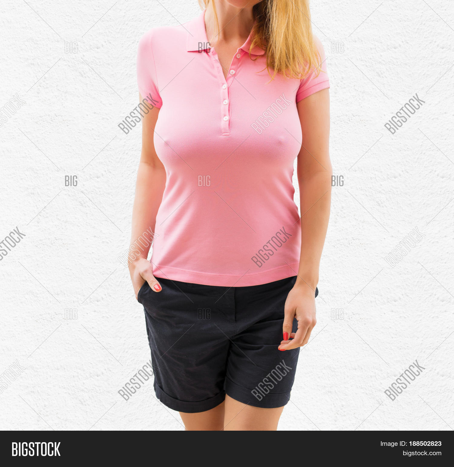Girls with big tits in polos
