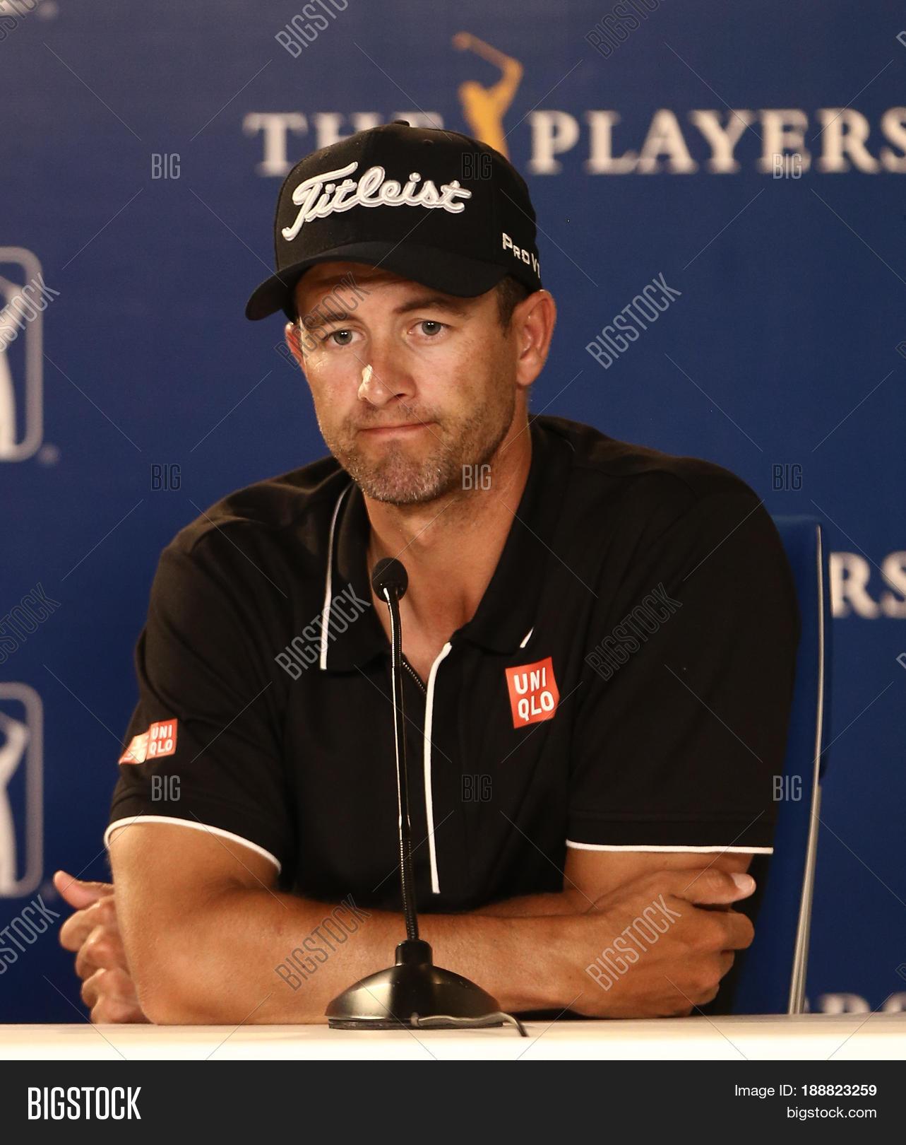 Ponte Vedra Beach Fl May 9 Golfer Adam Scott Speaks To The Media