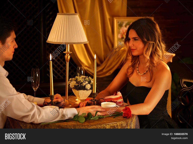 Romantic Dinner Couple Image Photo Free Trial Bigstock