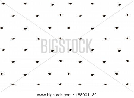 Eye cartoon. Fashion seamless pattern. Fabric textile background. Vector illustration isolated on white. Wrapping texture. Doodle decoration. Scandinavian design.