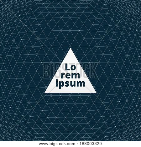 Abstract outline geometric triangle pattern seamless convex.  background. for print magazine brochure leaflet ad copy space