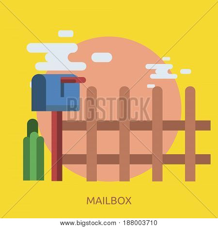 Mailbox Conceptual Design | Great flat illustration concept icon and use for cargo, delivery, transportation, business and much more