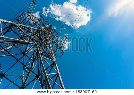Electricity Transmission Tower Power Supply Pylon
