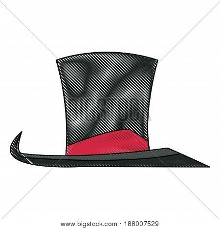 vintage top hat accessory host carnival vector illustration