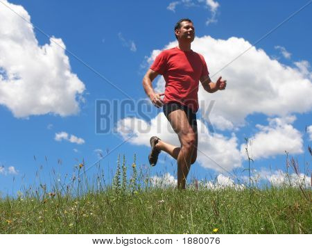 Young Man Is Running