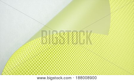 Green Car wrapping film roll background. 3d illustration