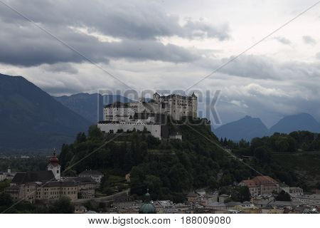 Town in the mountains #7  austria salzburg summer