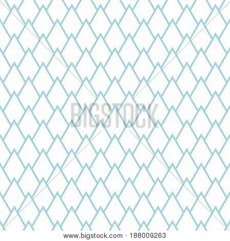 Abstract colored seamless pattern. Blue and white textile print. Vector illustration