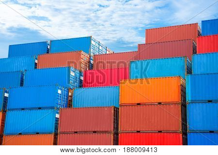 container for shipping import export to customer.