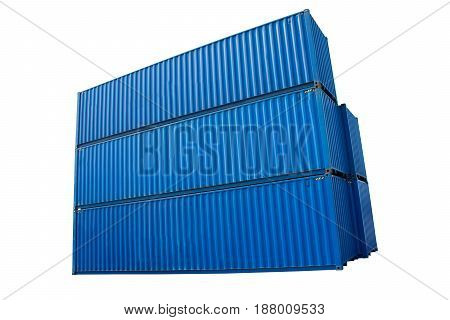 container box on white back ground for import export.