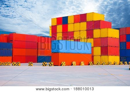container for transportation import export for opportunity business.