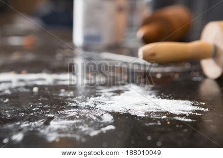 Rolling Pin Being Used For Baking