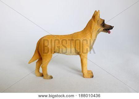 Belgian shepherd dog toy figurine in standing position