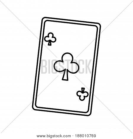 playing ace card poker icon. casino betting leisure outline vector illustration