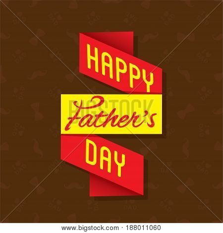 happy fathers day with mustache and bow tie pattern design