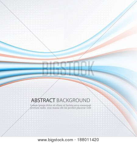 Abstract Rainbow Background. Vector Illustration.Bright colored lines stretching into the distance.