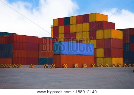 container shipping import export goods to customer for opportunity .