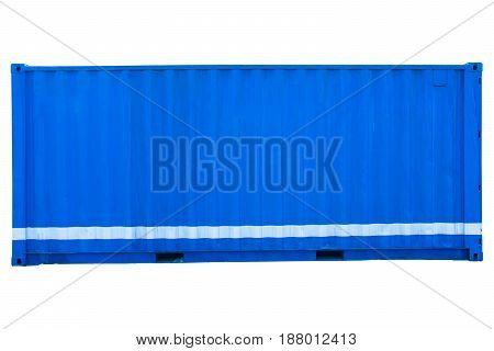 internation container for save your goods on white background .
