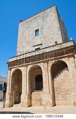 Norman swabian tower of Cisternino. Puglia. Italy.