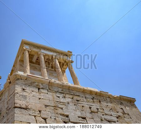 Parthenon temple in Acropolis at Athens Greece - travel background Greece Athens Acropolis