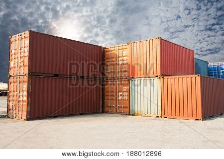 international container for shipping import export goods.