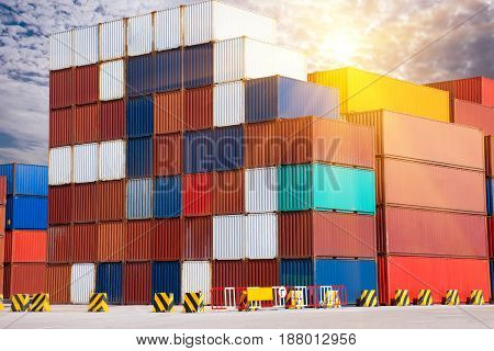 international container for trading import & export.
