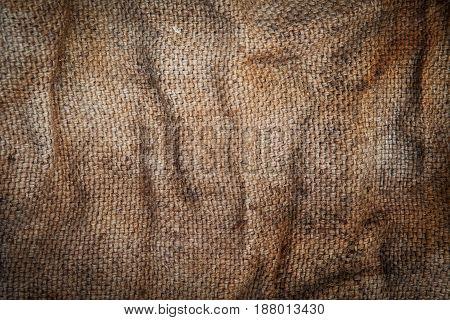 Cloth burlap large photo made of natural materials, environmentally friendly raw materials