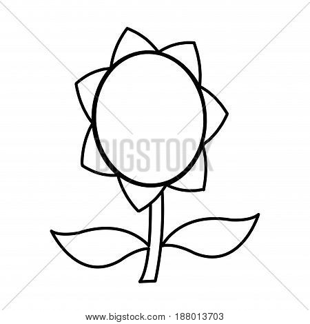 flower decoration abstract beauty decoration black line drawn vector illustration