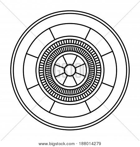 casino gambling roulette wheel game image outline vector illustration
