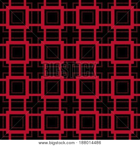 Geometric seamless pattern. Abstract background with square elements. Vector illustration