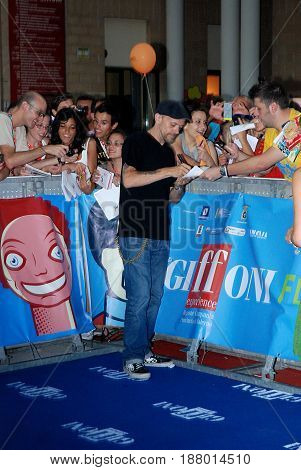 Giffoni Valle Piana Sa Italy - July 26 2013 : Max Pezzali at Giffoni Film Festival 2013 - on July 26 2013 in Giffoni Valle Piana Italy