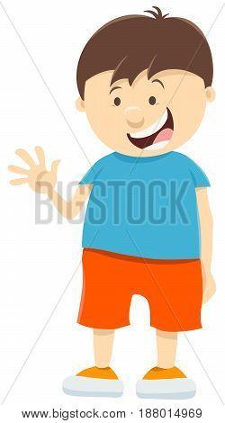 Cute Kid Boy Cartoon Character