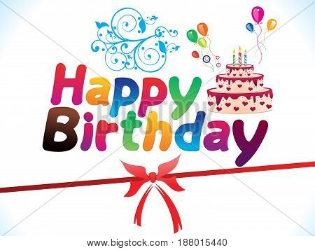 abstract artistic colorful birthday background vector illustration