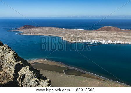 La Graciosa View In Lanzarote, Spain