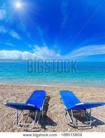 Summer Sunshiny Albanian Riviera Beach.