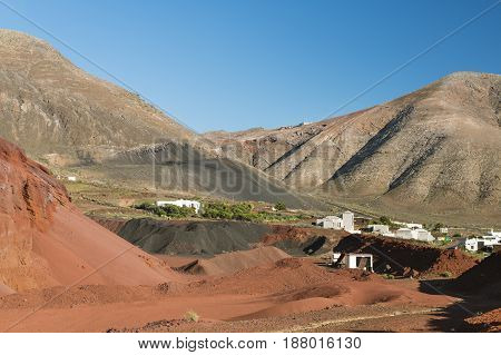 Caldera De Masian In Lanzarote, Spain