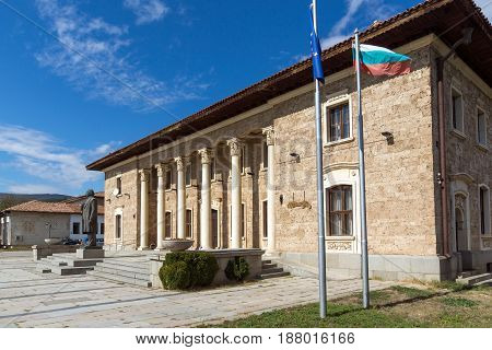 KOVACHEVTSY, BULGARIA - 9 OCTOBER 2016: Museum and monument of Communist leader Georgi Dimitrov in village of Kovachevtsi, Pernik Region, Bulgaria