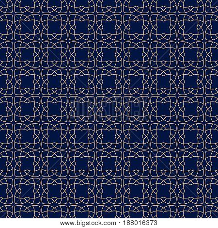 Arabic seamless patterns. Blue and golden ornaments for textile and fabric. Vector illustration