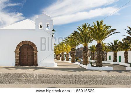 Femes Church In Lanzarote, Spain