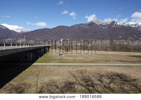 Bridge Near Quartino (switzerland, Ticino)