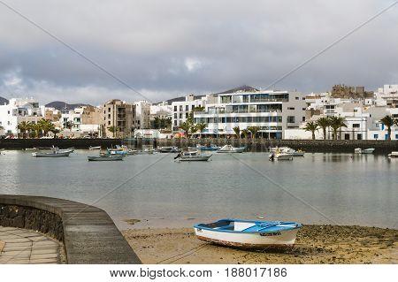 Arrecife Harbor In Lanzarote, Spain, Editorial