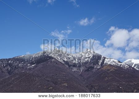 Mountains Near Quartino (ticino, Switzerland)