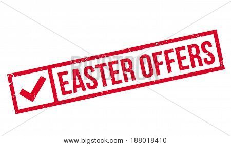 Easter Offers rubber stamp. Grunge design with dust scratches. Effects can be easily removed for a clean, crisp look. Color is easily changed.
