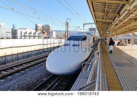 Shinkansen On The Track In Tokyo, Japan
