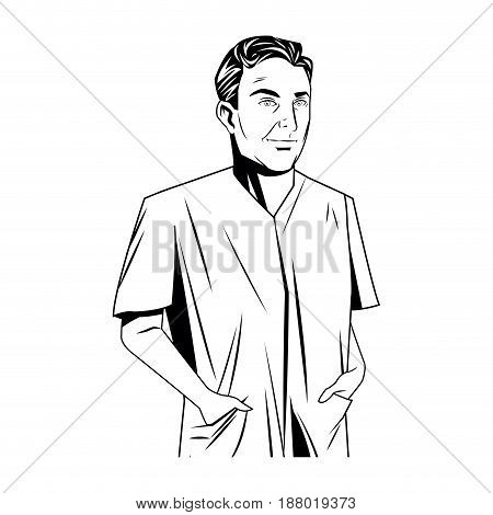 doctor character man expertise professional image vector illustration