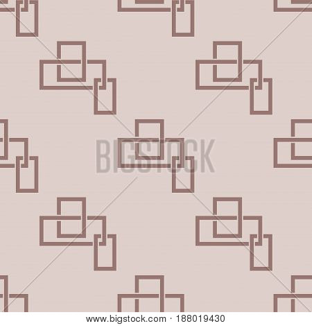 Geometric seamless pattern. Brown abstract background with square elements. Vector illustration